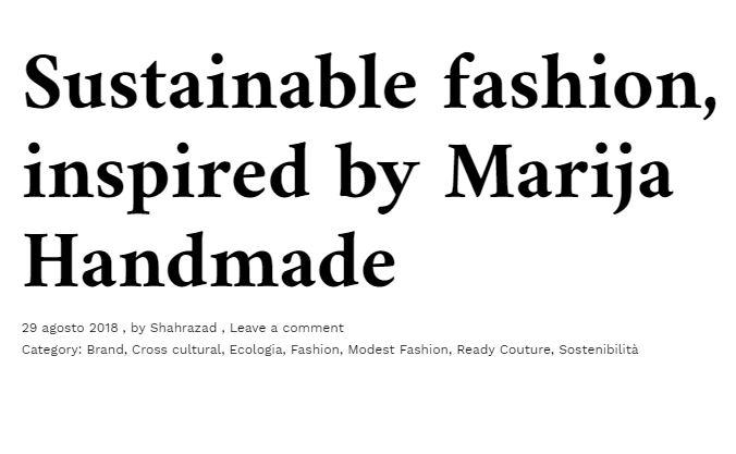 Sustainable fashion, inspired by Marija Handmade